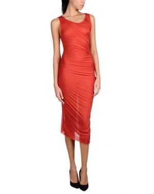 Длинное платье NOSTRASANTISSIMA. Цвет: красный