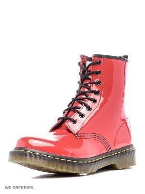 Ботинки Dr.Martens. Цвет: малиновый