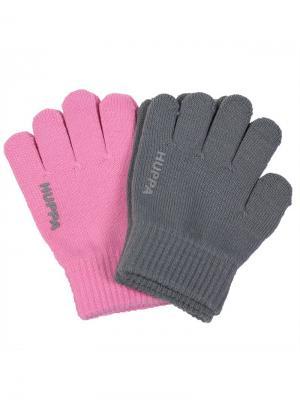 Перчатки LEVI2 HUPPA. Цвет: темно-серый