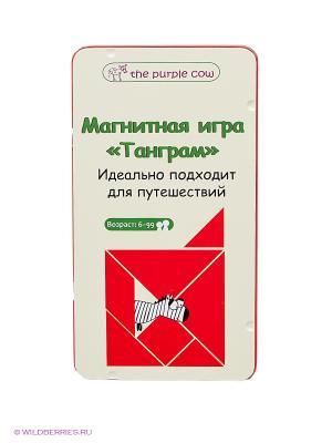 Магнитная настольная игра Танграм. THE PURPLE COW. Цвет: красный