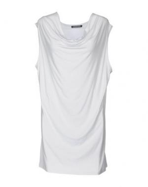 Короткое платье EMISPHERE. Цвет: белый
