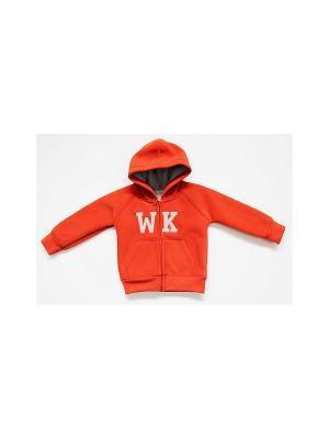 Толстовка WonderKids. Цвет: оранжевый