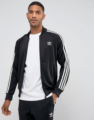 Adidas Originals Черная спортивная куртка Superstar BK5921. Цвет: черный