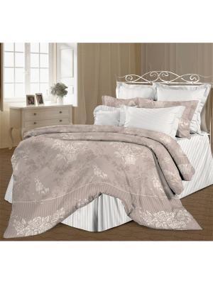 Комплект постельного белья 2,0 перкаль Нинель Романтика. Цвет: серебристый, белый