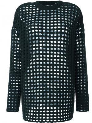 Semi sheer mesh jumper Arthur Arbesser. Цвет: зелёный