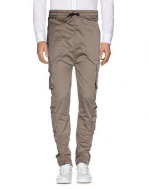 Повседневные брюки I LOVE UGLY. Цвет: бежевый