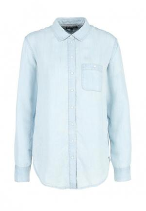 Рубашка джинсовая Tommy Hilfiger. Цвет: голубой