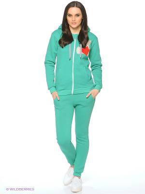 Спортивный костюм Stella. Цвет: зеленый