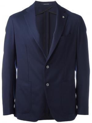 Пиджак с застежкой на 2 пуговицы Tagliatore. Цвет: синий
