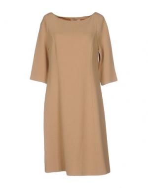 Платье до колена BARBON. Цвет: песочный