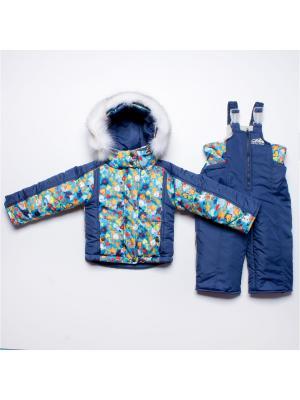 Костюм Arctic Kids. Цвет: синий, светло-оранжевый