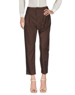 Повседневные брюки VIRNA DRÒ®. Цвет: темно-коричневый