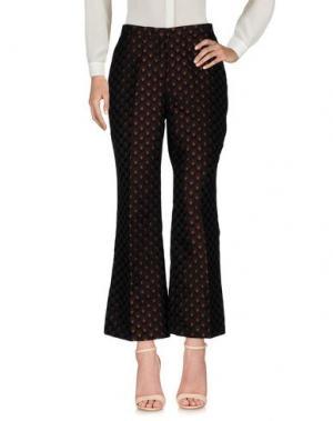 Повседневные брюки 1-ONE. Цвет: красно-коричневый