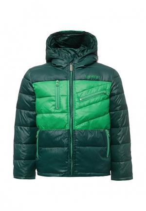 Куртка утепленная Bikkembergs. Цвет: зеленый