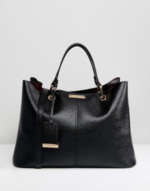 Carvela Двухцветная сумка. Цвет: черный