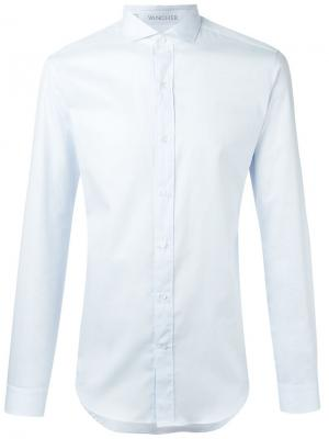 Классическая рубашка в стиле casual Vangher. Цвет: синий