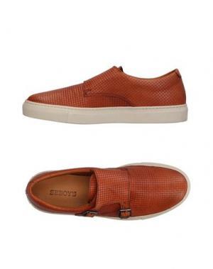 Низкие кеды и кроссовки SEBOY'S. Цвет: коричневый
