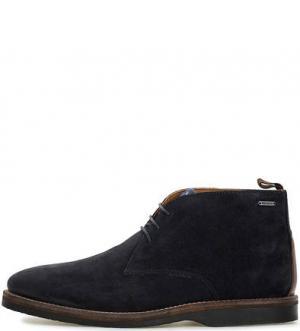 Замшевые ботинки дезерты Pepe Jeans. Цвет: синий