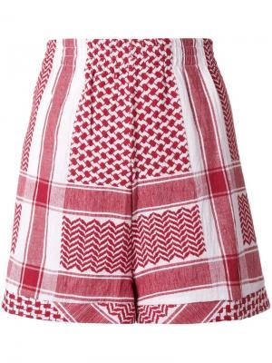 Жаккардовые шорты Cecilie Copenhagen. Цвет: красный