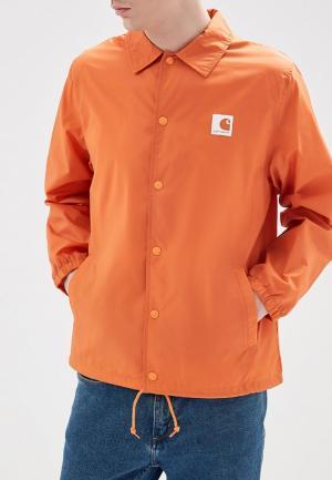 Ветровка Carhartt. Цвет: оранжевый