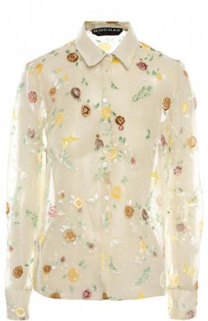 Блуза Rochas. Цвет: белый