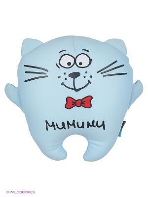 Кот Подушка Мимими MAXITOYS. Цвет: голубой