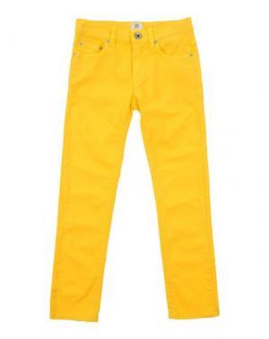 Джинсовые брюки MAURO GRIFONI KIDS. Цвет: желтый