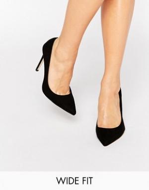Faith Wide Fit Черные туфли‑лодочки для широкой стопы Chloe. Цвет: черный