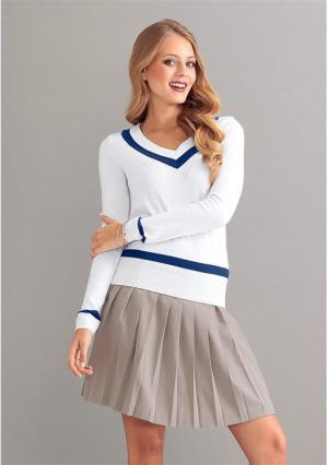 Пуловер Y.O.U.. Цвет: белый/синий