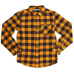 Рубашка в клетку детская  Motherflyflayth Golden Oak Motherfly Quiksilver. Цвет: желтый,синий