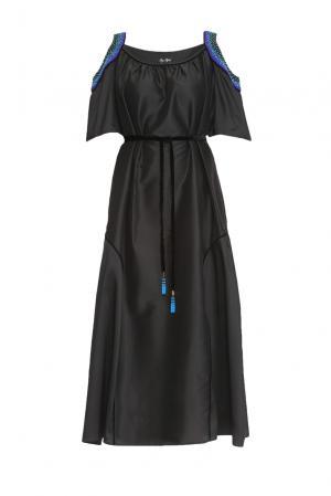 Платье из шелка с поясом 161400 Iya Yots