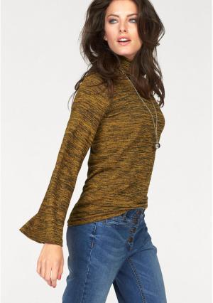 Пуловер Aniston. Цвет: цвет карри