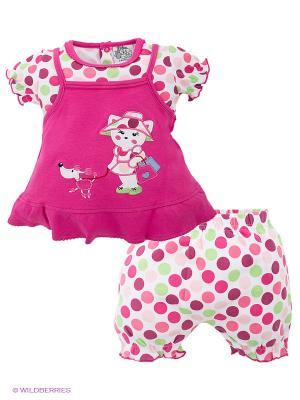 Комплект FS Confeccoes. Цвет: розовый, белый, зеленый