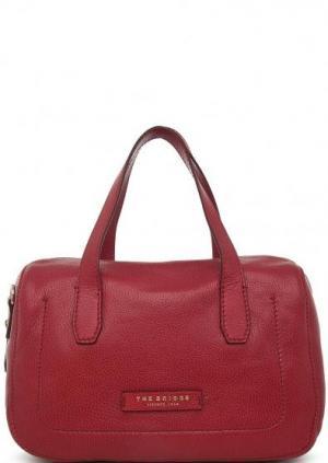 Бордовая сумка из натуральной кожи The Bridge. Цвет: бордовый