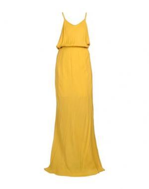Длинное платье EMPATHIE. Цвет: охра