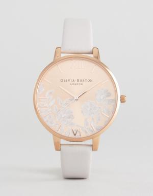 Olivia Burton Часы с кожаным ремешком. Цвет: розовый
