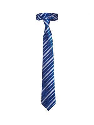 Классический галстук Незнакомец с Уолл Стрит в диагональную полоску Signature A.P.. Цвет: синий, белый