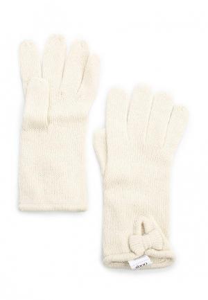 Перчатки oodji. Цвет: бежевый