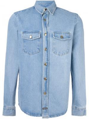 Джинсовая рубашка Dream Team Les (Art)Ists. Цвет: синий