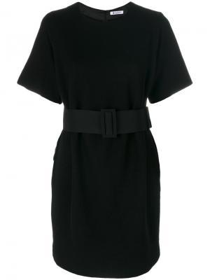 Платье с поясом Dondup. Цвет: чёрный