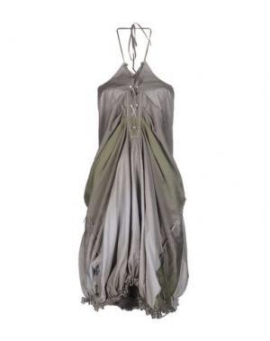 Короткое платье LE JEAN DE MARITHÉ + FRANÇOIS GIRBAUD. Цвет: серый