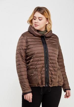 Куртка утепленная Rosa Thea. Цвет: коричневый