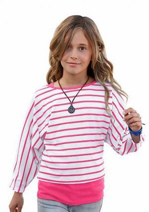 , топ и кофточка для девочек (комплект из 2 изделий) CFL. Цвет: розовый + белый