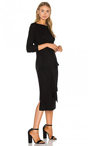 Платье с завязкой спереди maivy three dots. Цвет: черный
