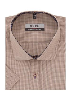 Рубашка GREG. Цвет: бежевый