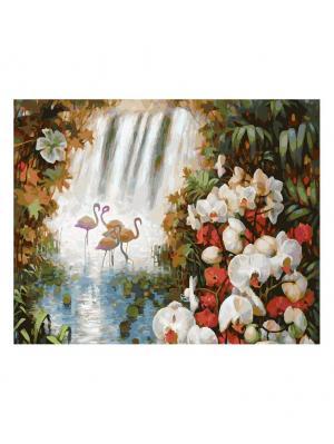 Живопись на холсте 40х50 см. Райский сад (188-АВ) Белоснежка. Цвет: белый