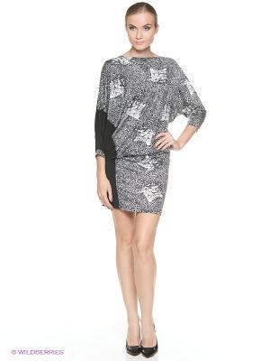 Платье ADZHEDO. Цвет: серый, черный