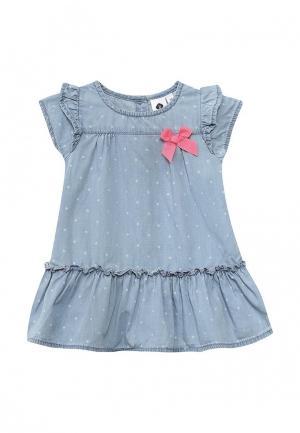 Платье джинсовое Z Generation. Цвет: голубой