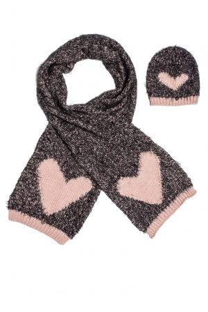 Комплект (шапка и шарф) 153114 Sos Chic. Цвет: разноцветный
