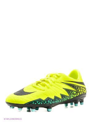 Бутсы HYPERVENOM PHELON II FG Nike. Цвет: желтый